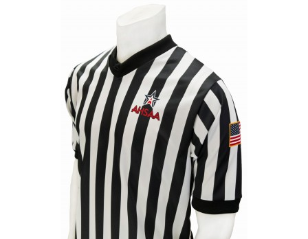 "USA200AL-FLEX Alabama (AHSAA) 1"" Stripe Body Flex Men's V-Neck Referee Shirt"