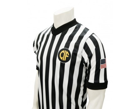 "California (CIF) 1"" Stripe V-Neck Women's Referee Shirt"