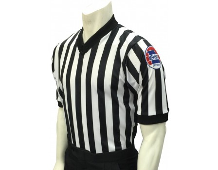 "USA200MO-FLEX Missouri (MSHSAA) 1"" Stripe Body Flex Men's V-Neck Referee Shirt"