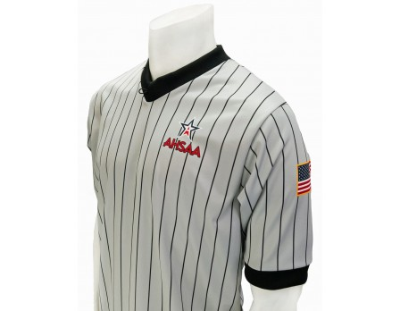 USA205AL Alabama (AHSAA) Grey V-Neck Referee Shirt