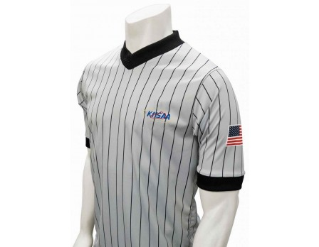 USA205KY Kentucky (KHSAA) Grey V-Neck Referee Shirt