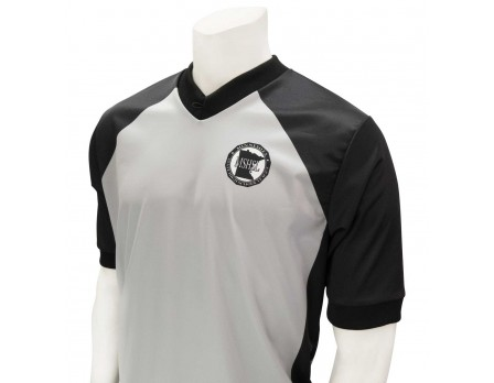 USA207MN-FLEX Minnesota (MSHSL) Men's Body Flex Grey & Black V-Neck Referee Shirt