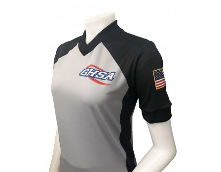 Georgia (GHSA) Women's Grey & Black V-Neck Referee Shirt