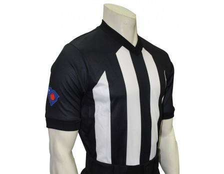 "USA260SC-FLEX South Carolina (SCBOA) 2 1/4"" Stripe Body Flex V-Neck Referee Shirt"