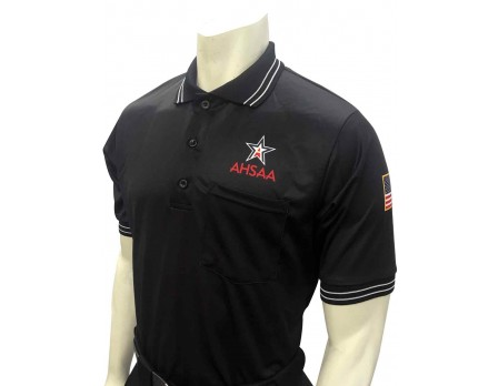 USA300AL-BK Alabama (AHSAA) Short Sleeve Umpire Shirt - Black