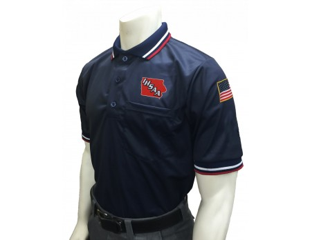 Iowa (IHSAA) Pro Knit Umpire Shirt - Navy