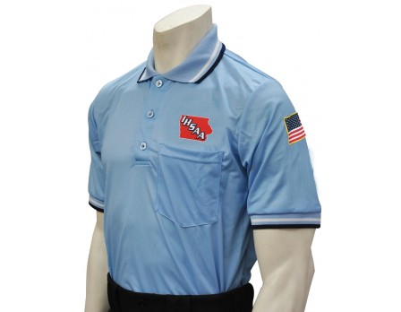 Iowa (IHSAA) Pro Knit Umpire Shirt - Powder Blue