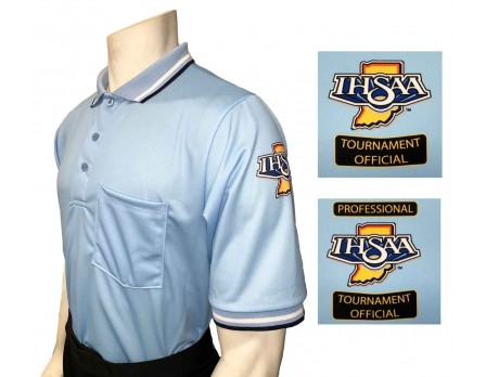 Indiana (IHSAA) Short Sleeve Umpire Shirt - Powder Blue