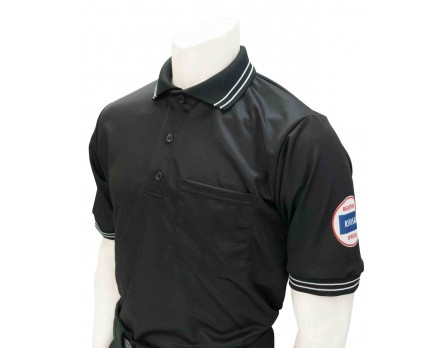USA300KS-BK Kansas (KSHSAA) Umpire Shirt - Black