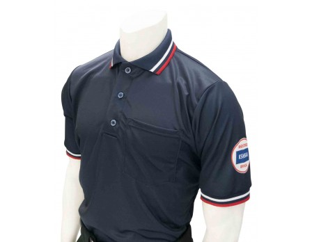 USA300KS-N Kansas (KSHSAA) Umpire Shirt - Navy
