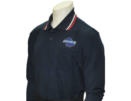 USA301GA-N Georga (GHSA) Long Sleeve Umpire Shirt - Navy
