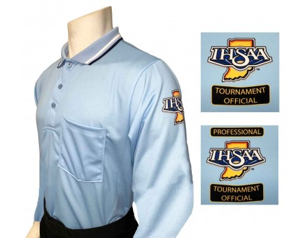 USA301IN-PB Indiana (IHSAA) Long Sleeve Umpire Shirt - Powder Blue