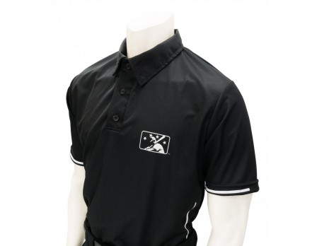 BASE MiLB Smitty Umpire Shirt - Black with White Vertical Stripe