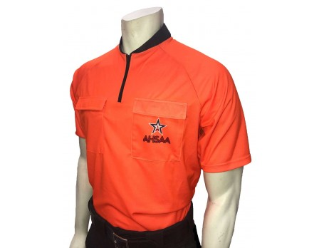 USA900AL-FO Alabama (AHSAA) Short Sleeve Soccer Referee Shirt - Fluorescent Orange