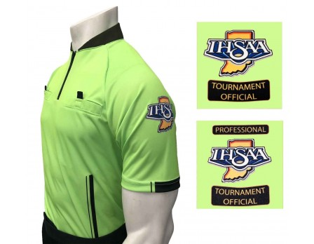 Indiana (IHSAA) Short Sleeve Soccer Referee Shirt - Florescent Green