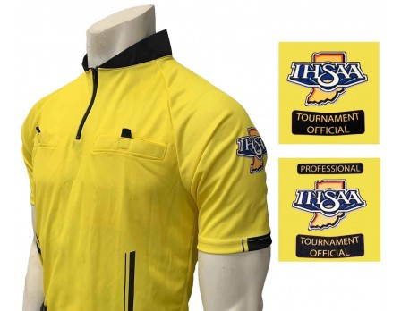 USA900IN-YW Indiana (IHSAA) Short Sleeve Soccer Referee Shirt - Yellow
