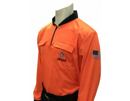 Alabama (AHSAA) Long Sleeve Soccer Referee Shirt - Fluorescent Organge