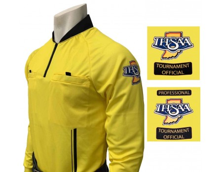 USA901IN-YW Indiana (IHSAA) Long Sleeve Soccer Referee Shirt - Yellow