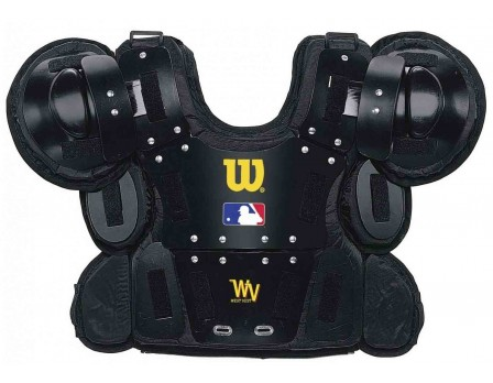 A3210 Wilson MLB West Vest Gold Umpire Chest Protector Front View