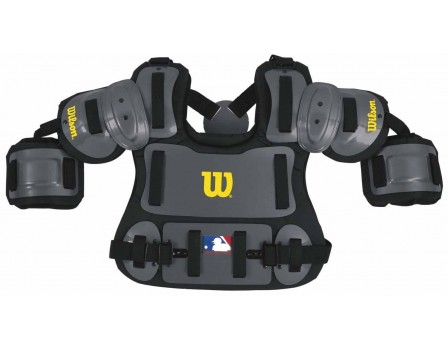 A3217-CHA13 Wilson MLB Charcoal Umpire Chest Protector Front View