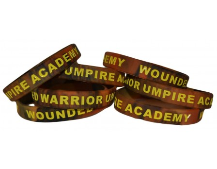 WWUA-BAND-BK/BRN Wounded Warrior Umpire Academy Bracelet Black and Brown