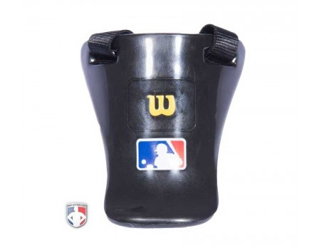 "Wilson MLB Gold 4"" Umpire Throat Guard"