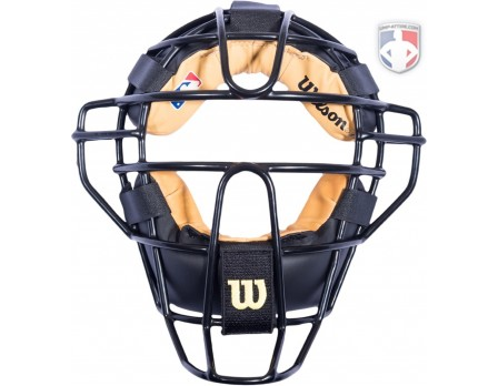 A3077 Wilson MLB Low Profile Chrome Moliben Umpire Mask with Two-Tone