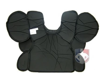 286a5a991a0 A3210 Wilson MLB West Vest Gold Umpire Chest Protector Back View