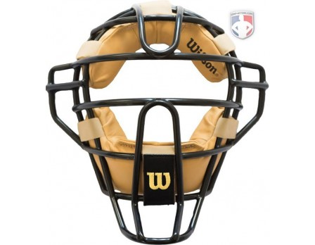 A3009X-DS Wilson Dyna-Lite Steel Umpire Mask with Doeskin