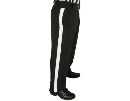 Smitty Performance 4-Way-Stretch Athletic Fit Black Football Referee Pants
