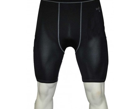 S412 SMITTY BLACK COMPRESSION SHORTS