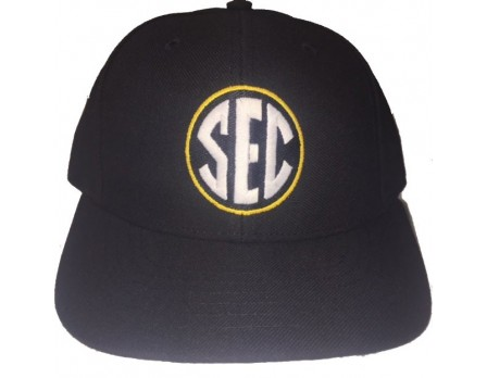 SEC Wool Blend Fitted Base Umpire Cap - 6 Stitch