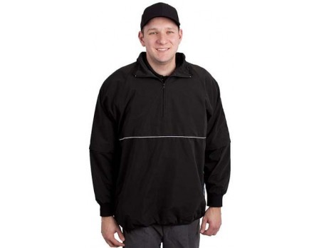 S323-VERT-BK Smitty Pro-Series Convertible Umpire Jacket - Black and White