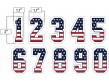 N3-SUB-SNS USA Stars and Stripes Precision-Cut Numbers
