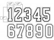 "N3-SUB-WBW 3"" Precision Cut Numbers White on Black on White"