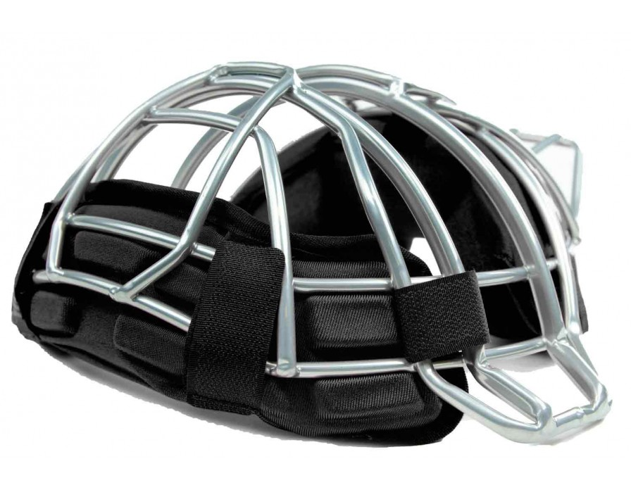 UAFM2-WP-BK Under Armour Silver Umpire Mask with Black Windpact