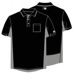 Majestic MLB Umpire Shirt - Black with Grey